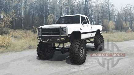 Dodge Power Ram (W250) 1991 para MudRunner