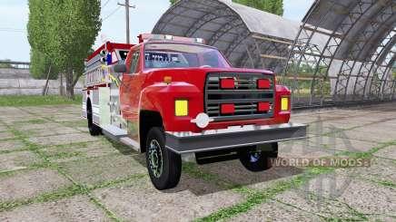 Ford F-700 fire truck para Farming Simulator 2017