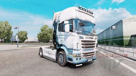 Final Fantasy pele para o caminhão Scania série R para Euro Truck Simulator 2