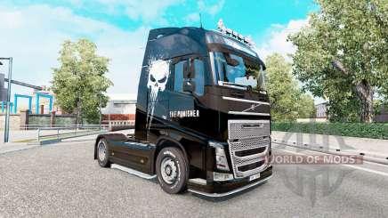Pele Punisher para o caminhão Volvo FH-série para Euro Truck Simulator 2