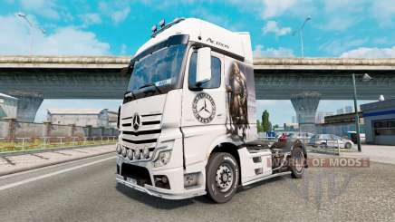 Скин Guerreiro Viking на Mercedes-Benz Actros MP4 para Euro Truck Simulator 2