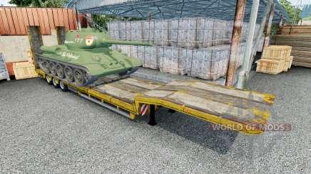 Semitrailer with cargo T-34-85 para Euro Truck Simulator 2