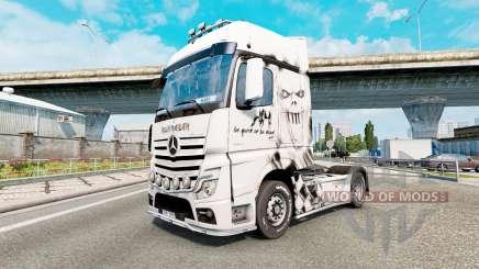 Скин Iron Maiden на Mercedes-Benz Actros MP4 para Euro Truck Simulator 2