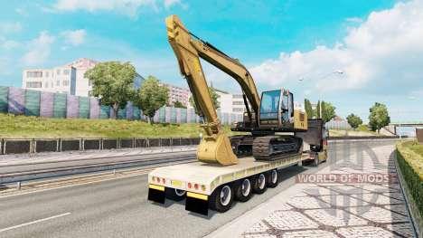 Trailer with construction equipment para Euro Truck Simulator 2