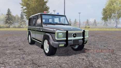 Mercedes-Benz G500 (W463) Unmarked Police para Farming Simulator 2013