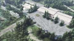 Base militar abandonada v1.1 para Spin Tires