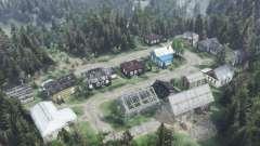 Os arredores da aldeia de Careca Lojista