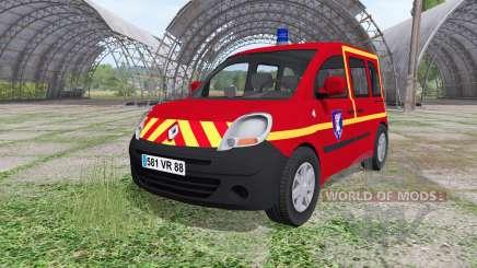 Renault Kangoo Sapeurs Pompier para Farming Simulator 2017
