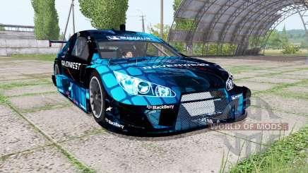 Chevrolet Impala SS NASCAR Ravenwest Blue para Farming Simulator 2017