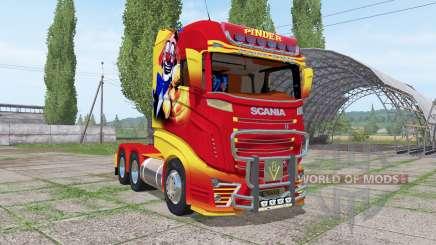Scania R1000 Pinder para Farming Simulator 2017