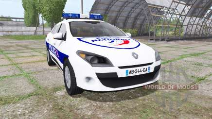Renault Megane Estate 2009 Police Nationale para Farming Simulator 2017