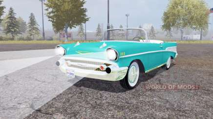 Chevrolet Bel Air convertible (2434-1067D) 1957 para Farming Simulator 2013