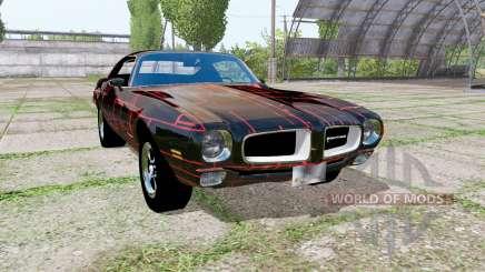 Pontiac Firebird 1970 Cyber Red para Farming Simulator 2017