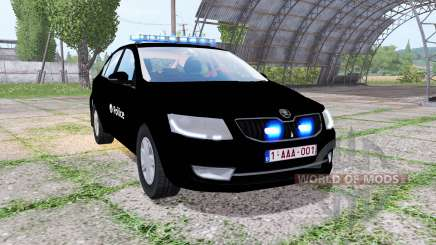 Skoda Octavia (5E) 2013 Belgian Police para Farming Simulator 2017