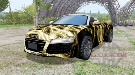 Audi R8 V10 Spyder 2012 Electric para Farming Simulator 2017