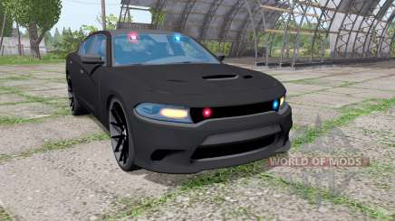 Dodge Charger SRT Hellcat 2015 Unmarked Police para Farming Simulator 2017