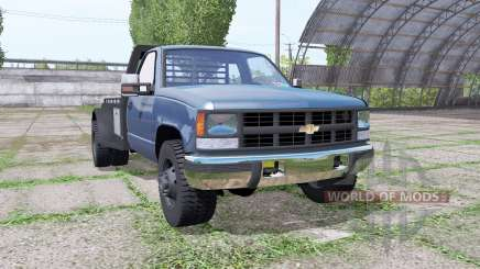Chevrolet K3500 1994 flatbed para Farming Simulator 2017