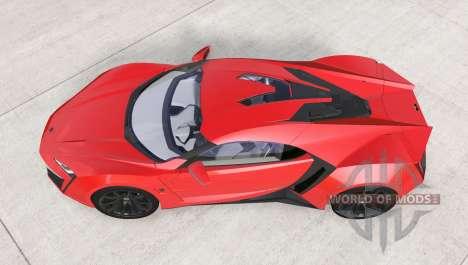 W Motors Lykan HyperSport 2014 para BeamNG Drive