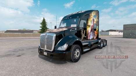 Pele de Cães de Dormir no caminhão Kenworth T680 para American Truck Simulator