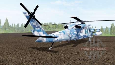 Sikorsky UH-60L Black Hawk winter camo para Farming Simulator 2017
