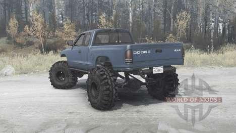 Dodge Dakota Club Cab 1997 extreme off-road para Spintires MudRunner