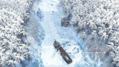 Inverno na floresta para Spin Tires