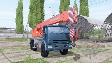 KAMAZ 65222 2009 guindaste para Farming Simulator 2017