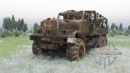 KrAZ-255B Último suspiro para Spin Tires