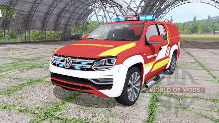 Volkswagen Amarok Double Cab feuerwehr v1.1 para Farming Simulator 2017