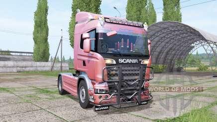 Scania R580 Highline Cab 2013 v1.0.0.1 para Farming Simulator 2017