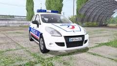 Renault Scenic (JZ) 2009 Police National para Farming Simulator 2017