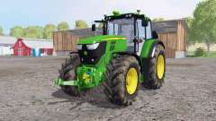 John Deere 6170M dirty tires para Farming Simulator 2015