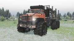 Ural Polyarnik 6x6 estrutura articulada, para Spin Tires