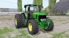 John Deere 7530 Premium dual rear para Farming Simulator 2017