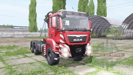 MAN TGS 26.480 crane v1.5 para Farming Simulator 2017
