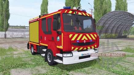 Renault Midlum Crew Cab Firetruck para Farming Simulator 2017