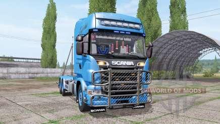 Scania R730 V8 Topline hooklift v1.0.4.5 para Farming Simulator 2017