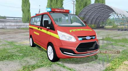 Ford Transit Custom Kombi Feuerwehr v0.9 para Farming Simulator 2017