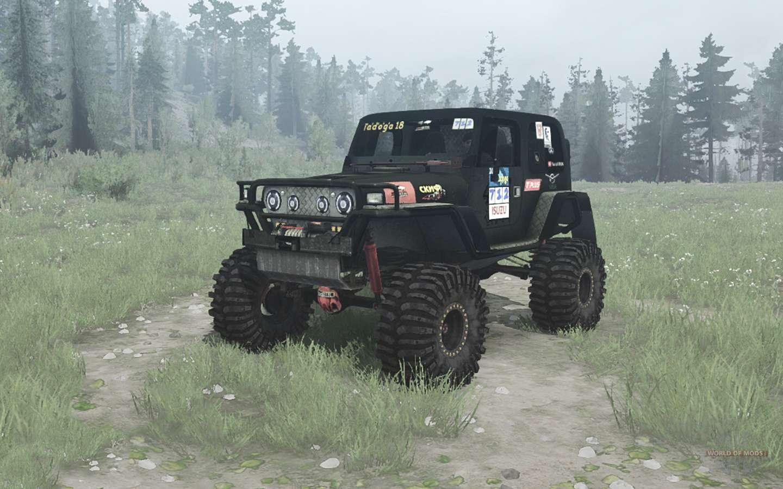 Jeep Wrangler (TJ) Ladoga Trophy V2.0 Para Spintires MudRunner