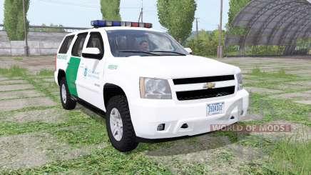 Chevrolet Tahoe (GMT900) 2007 US Border Patrol para Farming Simulator 2017