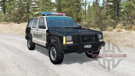 Jeep Cherokee Police skins pack para BeamNG Drive