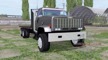 GMC 9500 flatbed para Farming Simulator 2017