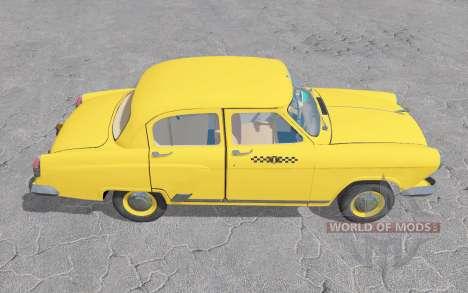 GAZ 21 Volga Táxi 1956 v1.3 para Farming Simulator 2017