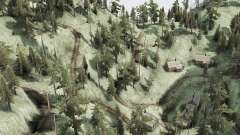 Curva de estrada de montanha