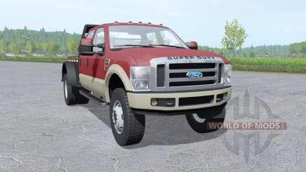 Ford F-350 Super Duty Crew Cab flatbed para Farming Simulator 2017