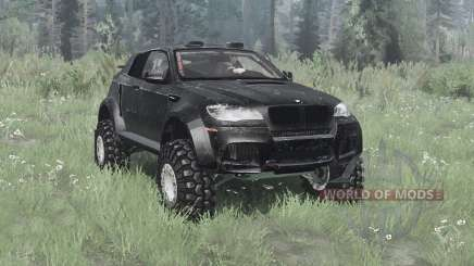 BMW X6 M (E71) 2009 lifted para MudRunner