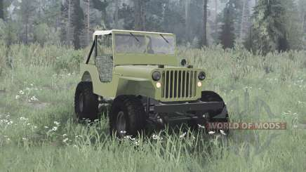 Willys MB off-road green para MudRunner